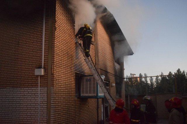 آتش سوزی در انبار کالای سازمان فروش اموال تملیکی بیرجند