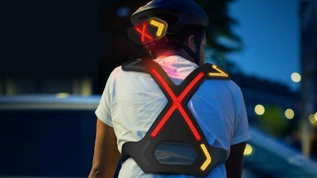دوچرخه سواری ایمن با یک سیستم پوشیدنی