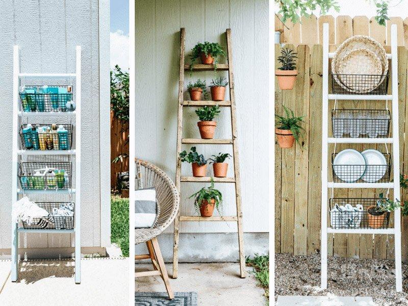 دکوراسیون متفاوت منزل با نردبان تزیینی