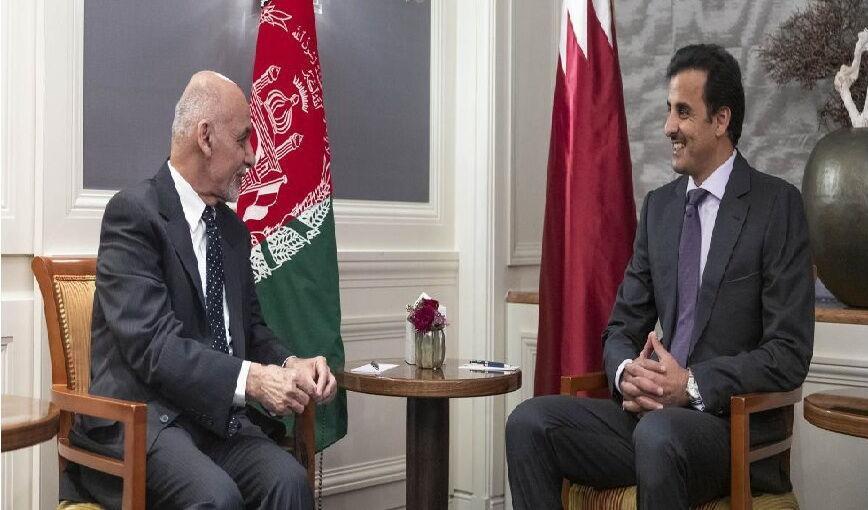 خبرنگاران امیر قطر بر ادامه کوشش برای توافق صلح میان طالبان و دولت افغانستان تأکید کرد