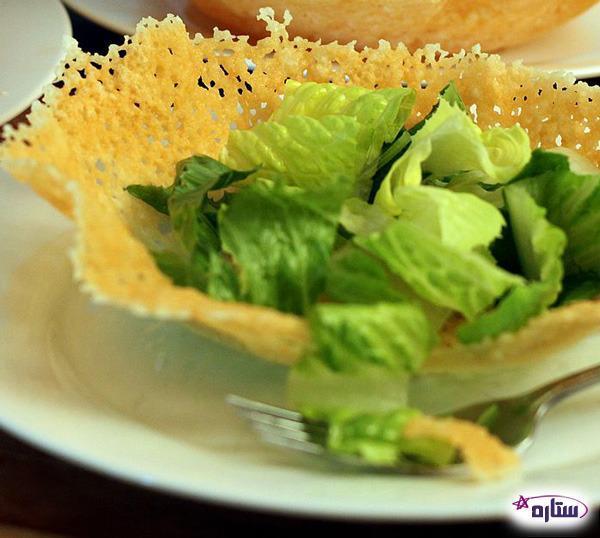 طرز تهیه کاسه پنیر پارمزان جهت سرو سالاد