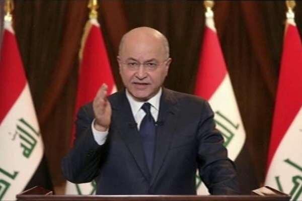 رئیس جمهور عراق خبر دیدارش با رئیس پنتاگون را تکذیب کرد