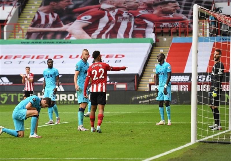 لیگ برتر انگلیس، شفیلدیونایتد به آسانی تاتنهام مورینیو را شکست داد