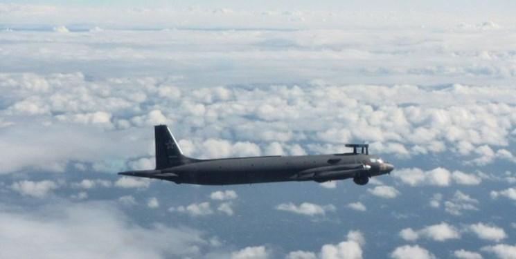 پرواز پشتیبانی هواپیمای ایلوشین و جنگنده های سوخو-27 روسیه بر فراز دریای سیاه
