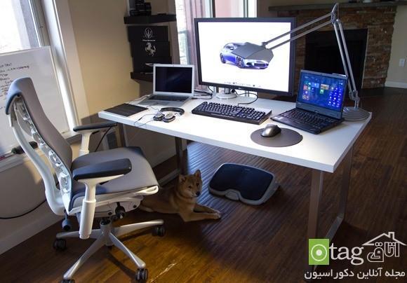 مدل میز و جایگاه کامپیوتر با طراحی ارگونومیک و شیک