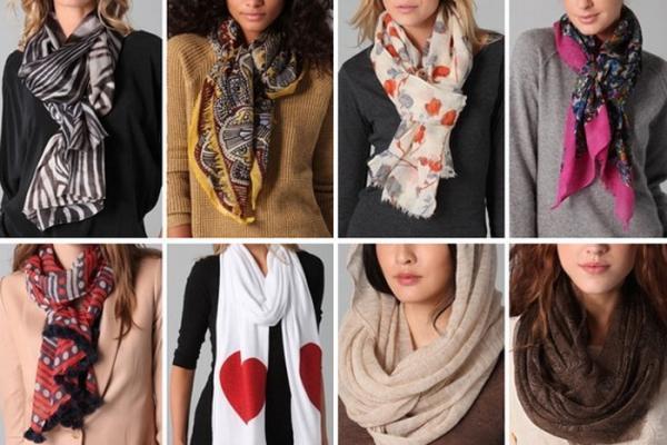 8 مدل بستن دستمال گردن زنانه (آموزش تصویری)