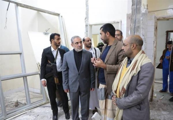 بازدید سفیر ایران در یمن از بیمارستان جمهوری در صنعا