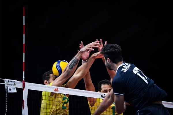 رجحان حمله و دفاع برزیل مقابل والیبالیست های ایران